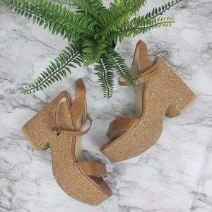 Zara 7 - 37 Glitter Wedge Sandals
